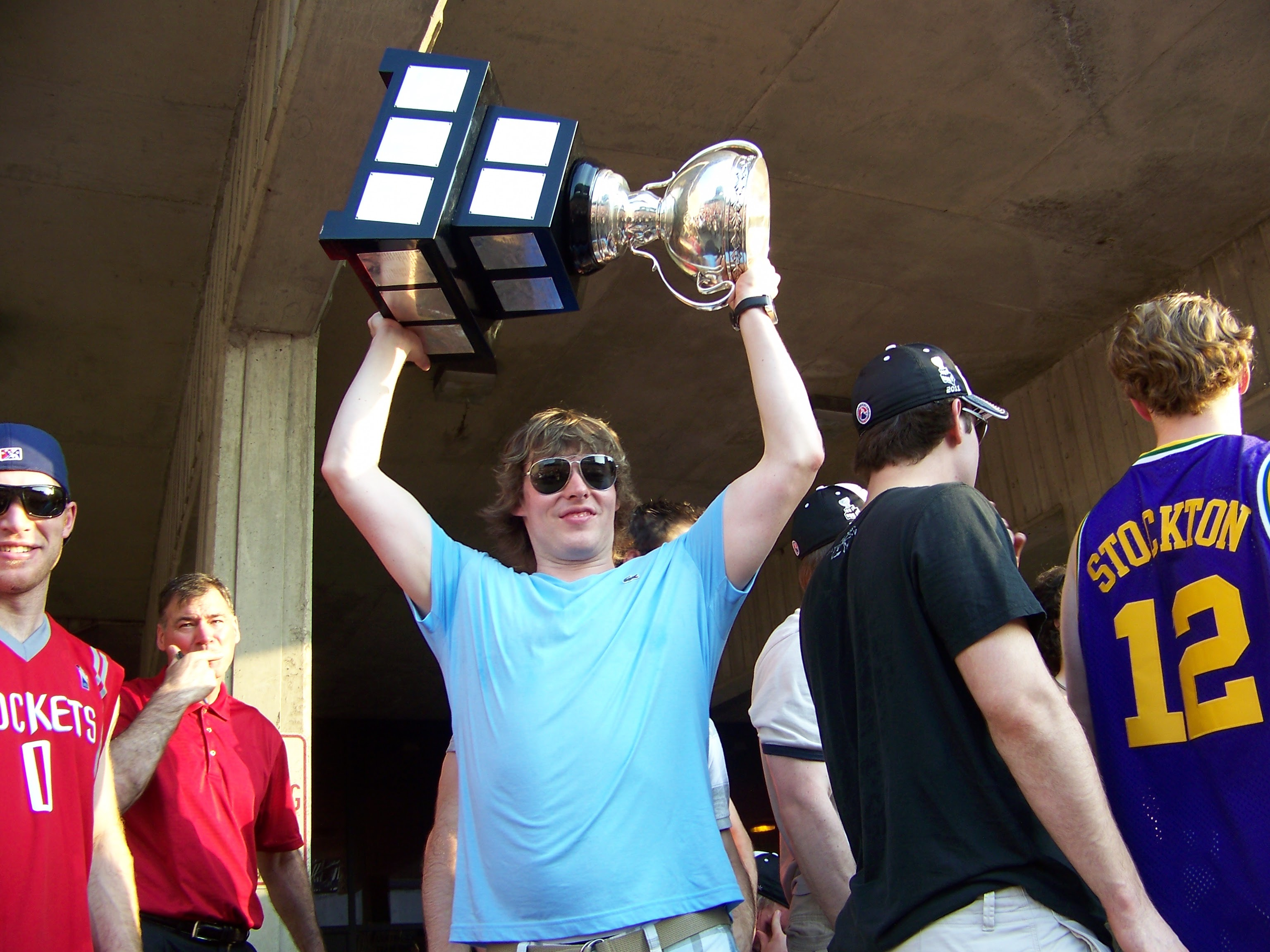 Corey Locke Raising the Calder Cup